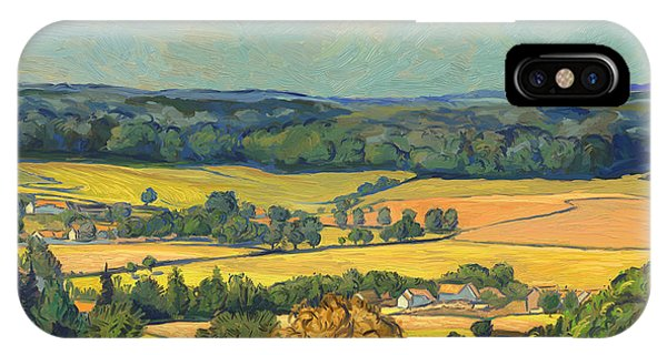 Briex iPhone Case - Hommage To Vincent Van Gogh - Zuid Limburg by Nop Briex