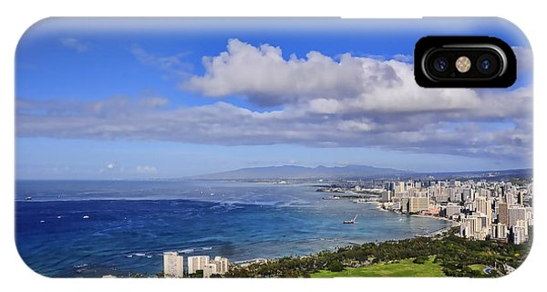 Honolulu From Diamond Head IPhone Case