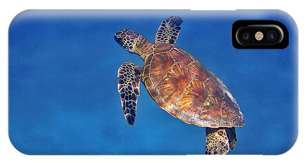 Honu In Blue IPhone Case