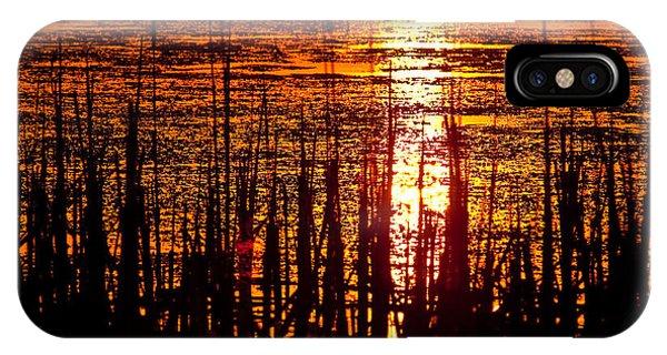Horicon Marsh iPhone Case - Horicon Marsh Sunset Wisconsin by Steve Gadomski