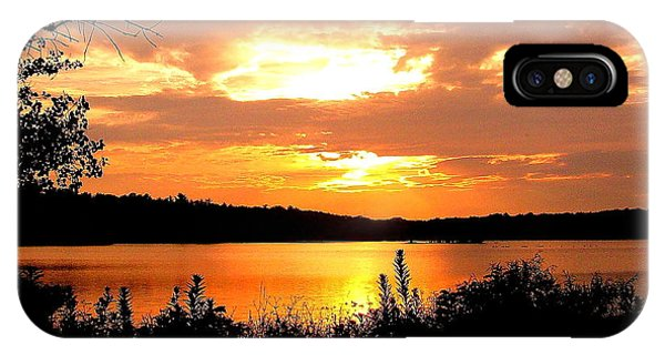 Horn Pond Sunset 2 IPhone Case