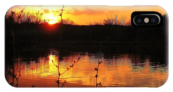 Horn Pond Sunset 8 IPhone Case