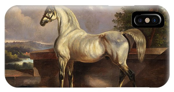Plowing iPhone Case - Horse by Rudolph Swoboda