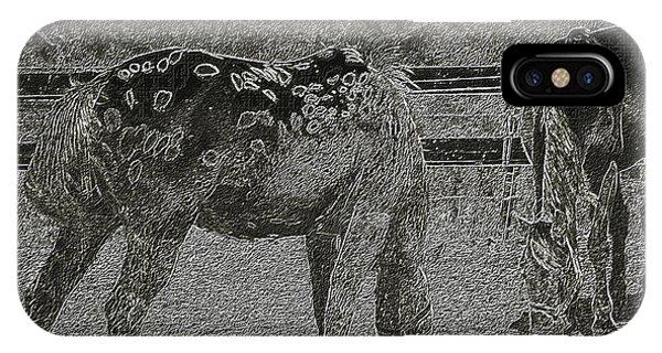 Horses Sketch IPhone Case