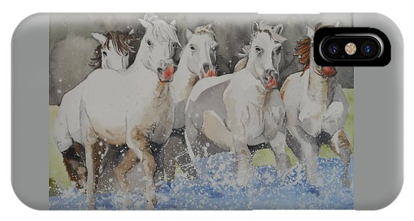 Horses Thru Water IPhone Case