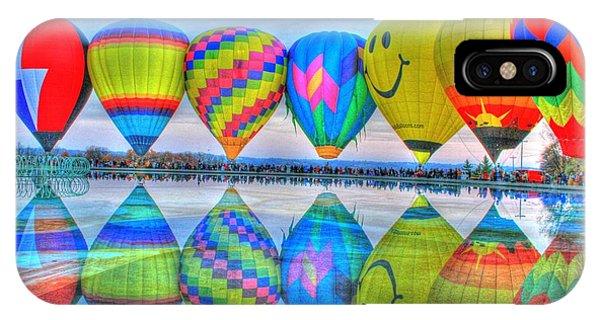Hot Air Balloons At Eden Park IPhone Case