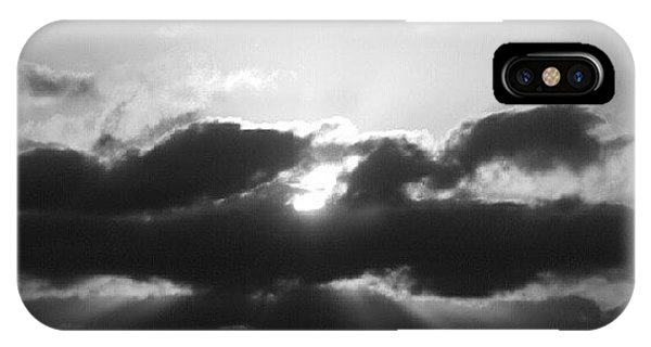 Sunset iPhone Case - Houston Sunset In Black And White by James Granberry