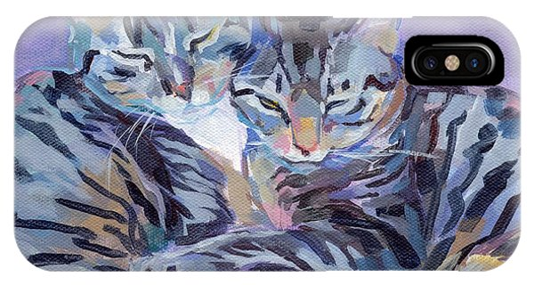 Hugs Purrs And Stripes IPhone Case