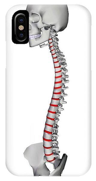 Human Backbone, Artwork Phone Case by Friedrich Saurer