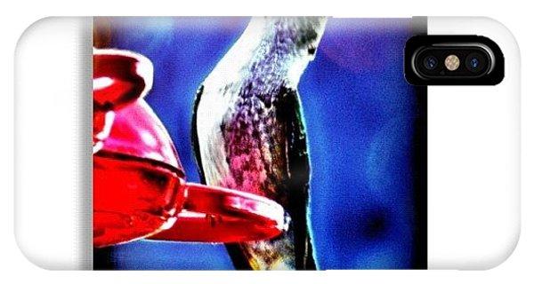 Edit iPhone Case - Hummingbird by Mari Posa