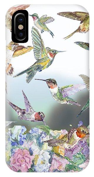 Hummingbirds Galore IPhone Case