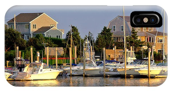 Powerboat iPhone Case - Hyannis Harbor At Sunset by Matt Suess