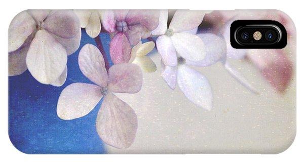 Hydrangeas In Deep Blue Vase IPhone Case