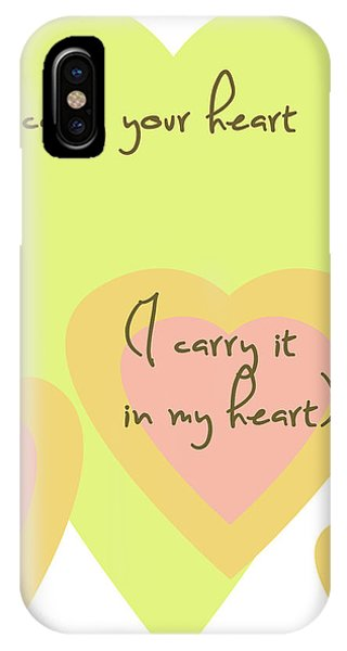 I Carry Your Heart I Carry It In My Heart - Yellow And Peach IPhone Case