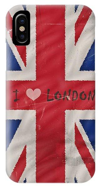 I Love London Phone Case by Sharon Lisa Clarke