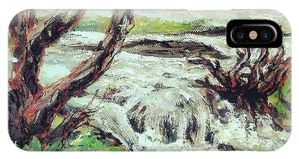 Impressionism iPhone Case - I Think I Finished That #river #hafren by Alexandra Cook