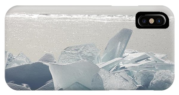 Ice Chunks On The Shores Of Lake IPhone Case