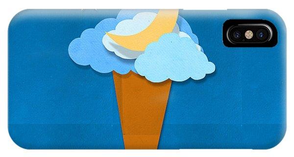 Ice iPhone Case - Ice Cream Design On Hand Made Paper by Setsiri Silapasuwanchai
