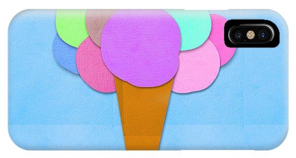 Ice iPhone Case - Ice Cream On Hand Made Paper by Setsiri Silapasuwanchai