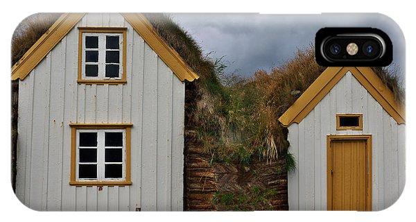 Icelandic Turf Houses IPhone Case