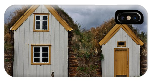 Icelandic Turf Houses IPhone Case