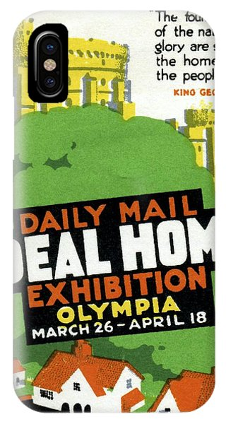 Endorsement iPhone Case - Ideal Home Exhibition Stamp, 1920 by Cci Archives