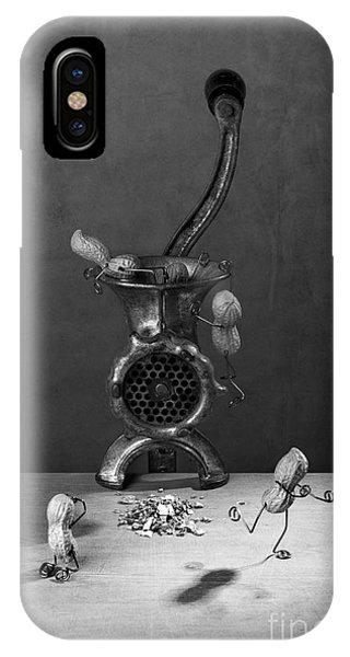 Small Dog iPhone Case - In The Meat Grinder 02 by Nailia Schwarz