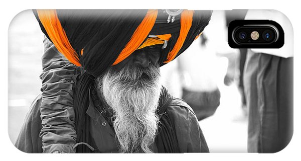 Indian Man Wearing Turban IPhone Case