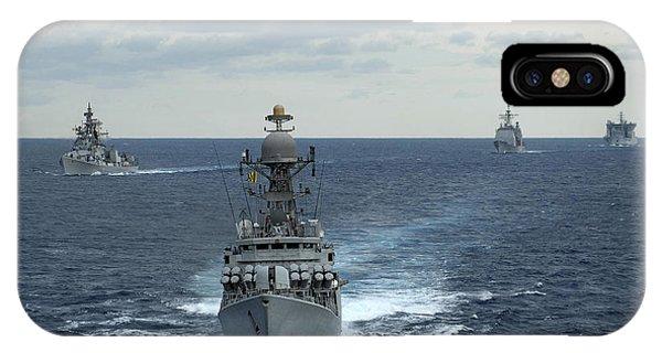 Kora iPhone Case - Indian Navy Corvette Ship Ins Kulish by Stocktrek Images