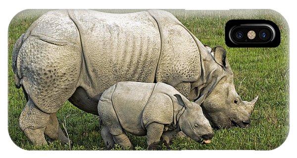 Indian Rhinoceroses Phone Case by Tony Camacho