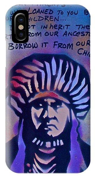 Indigenous Motto...blue IPhone Case