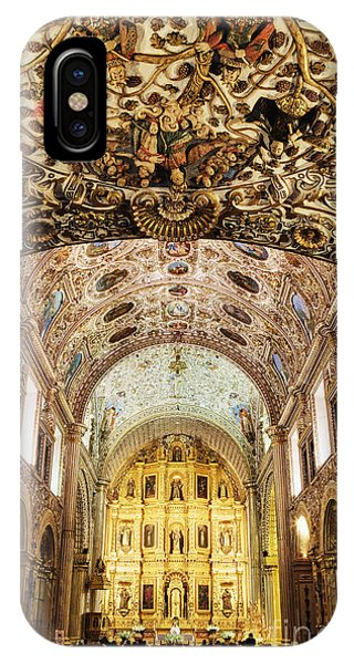 Interior Of The Church Of Santo Domingo Phone Case by Jeremy Woodhouse