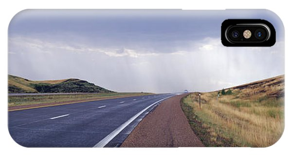 North Dakota Badlands iPhone Case - Interstate Highway Near Badlands National Park by Jeremy Woodhouse