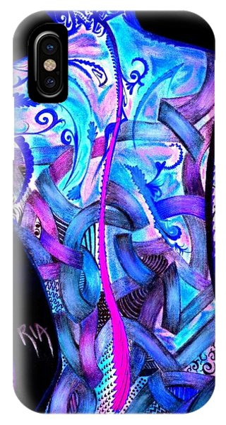 Nudes iPhone Case - Intricate Woman by Artist RiA