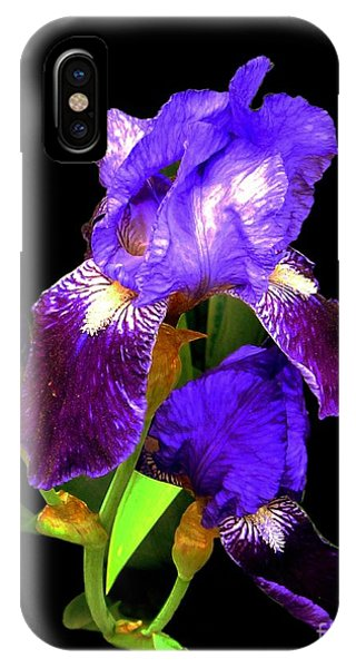 Iris On Black IPhone Case