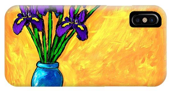 Iris On Yellow IPhone Case