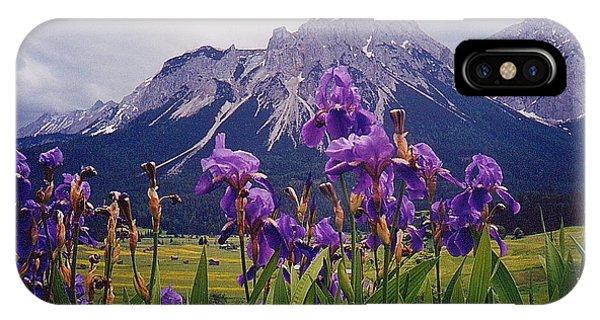 Irises In Austria IPhone Case