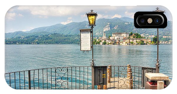 Island San Giulio On Lake Orta IPhone Case