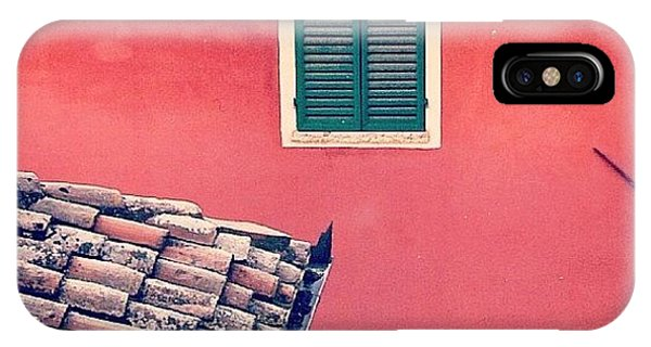 House iPhone Case - Italian Geometry #house #shutters by A Rey