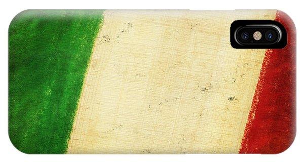 Mottled iPhone Case - Italy Flag by Setsiri Silapasuwanchai
