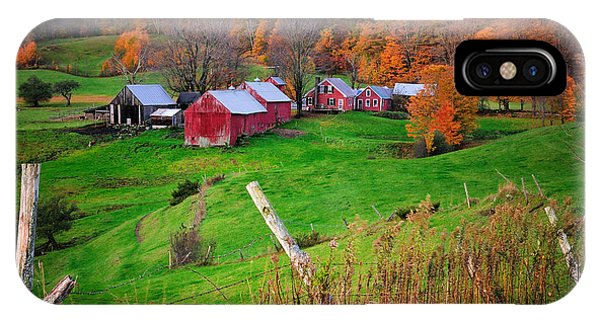 Jenne Farm-autumn Scenic From Reading Vermont  IPhone Case