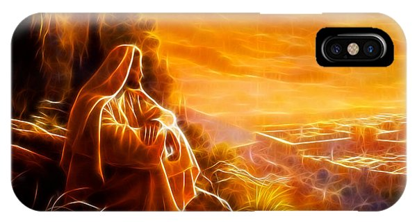 Jesus Thinking About People IPhone Case