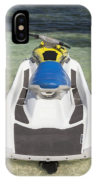 Jet Ski iPhone Case - Jet Ski In Shallow Water At The Waters by Bryan Mullennix