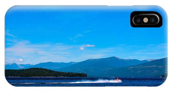 Jet Ski iPhone X Case - Jet Ski On Priest Lake by David Patterson