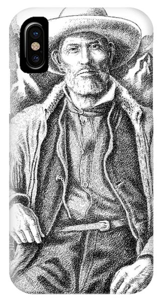 Pen And Ink Drawings For Sale iPhone Case - Jim Bridger by Gordon Punt