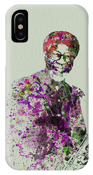 Saxophone iPhone Case - Joe Henderson Watercolor  by Naxart Studio