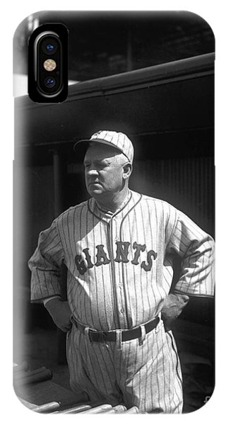 Baseball Hall Of Fame iPhone Case - John Mcgraw -  New York Giants by David Bearden