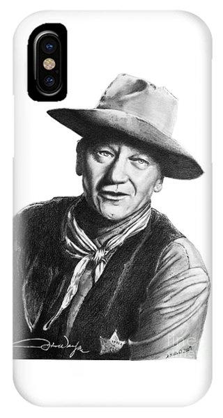 John Wayne  Sheriff IPhone Case