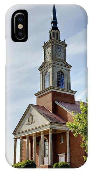 Chapel iPhone Case - John Wesley Raley Chapel by Ricky Barnard