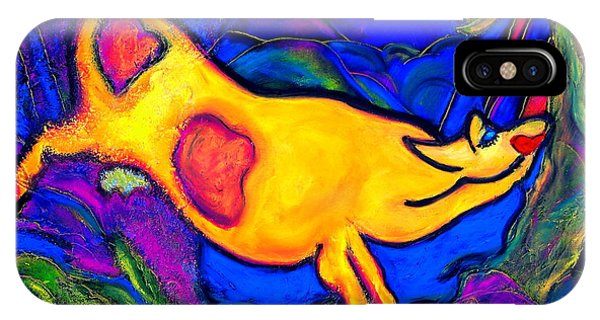 Joyful Yellow Cow IPhone Case